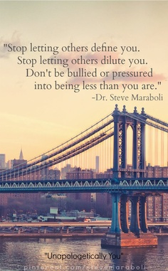 stop letting others define you